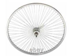 26 X 1,75 Vélo Wheelset Avant / Arrière 68 Spokes Coaster Argent Frein