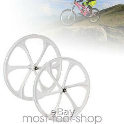26new Set Mag Roue Bicyclette 6 Branches Vtt Bike 7,8,9,10 Speed Avec Relâche Avant Et Arrière