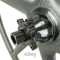 29er Full Carbon Bike Wheelsets À Roues À 6 Rayons Pour Vélo De Montagne, Largeur 30mm