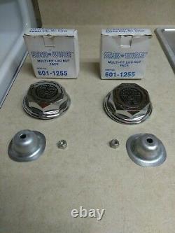 2 Nos Original Weld Wheels, Inc. Starwire 30 Spoke Center Caps Cragar Og 1979