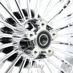 36 Fat Jante 21x3.5 16x3.5 Chrome Pour Harley Dyna Heritage Softail Deluxe