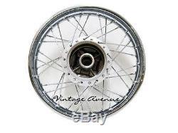386-newhonda Cb100 Cl100 Cl100s Avant18-arriere18 Jante + Moyeu + Rayon F9s + R7s