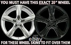 4 Ajustement Noir 2016-18 Chevrolet Camaro Ss 20 Wheel Skins Hub Caps Full Rim Covers