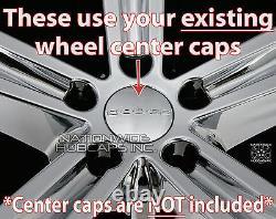 4 Fit Dodge Challenger 2014-2017 Chrome 20 Roues Skins Hub Caps Couvertures Pleine Jante