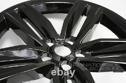 4 Fits 2016-2018 Chevrolet Camaro 20 Black Wheel Skins Hub Casquettes Couvertures Pleines