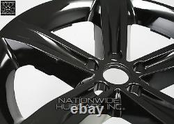 4 Fits Dodge Challenger 2014-2017 Black 20 Roues Skins Hub Casquettes Couvertures Pleines