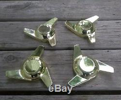 (4) Gold Spinning Style Spinners Only Seulement Des Roues À Fils Étoiles Cragar True Spoke Dayton