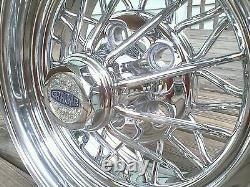 (4) Nouveau Cragar Star Wire Roues 30 Caps Centre Spoke Tru Tru Tru = Crager Sur Mesure