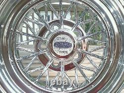 (4) Nouveau Cragar Star Wire Wheels 30 Spoke Center Caps Tru True Tru=spoke Crager