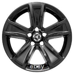4 Nouveaux 18 Black Wheel Skins Hub Caps Full Rim Covers For 2015-2018 Dodge Charger