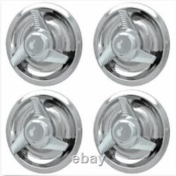 4 Nouvelles Chevy Gm 3 Bar Spinners Rally Wheel Center Caps Hub Rim 5 Lug Nut Covers