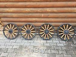 4 Spoks En Bois De 21 Pouces De Diamètre, Modèle Ford T Avant Et Arrière