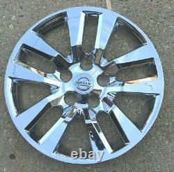 4x Chrome Hubcap S'adapte 2007-2018 Nissan Altima 16'' 10 Spoke 2007-2018 Nouveau
