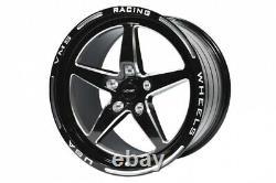 5 Étoiles Spoke Drag Racing Rim Roue Avant 2x 18x5 -25et 2x Arrière 17x10 44et 5/120