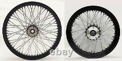 60 Spoke Black Wheel Set Avant/arrière Harley Electra Glide Road King Street 00-07
