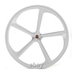 700c 5 Spoke Fixed Gear Single Speed Bike Fixie Spoke Mag Wheel Rim (avant+arrière)