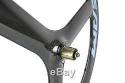 700c 65mm Triathlon Carbone Roue Vélo De Route Roue En Carbone Roues Avant Et Arrière