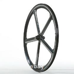 700c Fixed Gear 5-spoke Roues En Alliage Jantes Jeu De L'avant Et À L'arrière Fixie Vélo Clincher