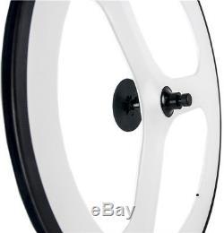 70mm Avant Tri Spoke Roue Arrière 88mm Clincher Avant + Arrière Carbone Wheelset 700c