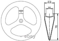 70mm Tri Portes Roues Carbone Avant + Disque Rear Frein Roues Carbone Thru Axe 3k