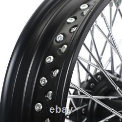72 Rayons 16 Traction Arrière Avant Ensemble Complet Pour Dyna Softail Sportster Touring