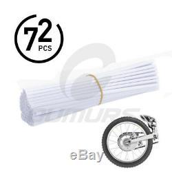 72pcs Moto Dirt Bike Spoke Skins Covers Volant Gainé De Rim Guard Protector USA