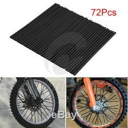 72x Spoke Skins Housses Pour Dirt Bike Motocross Jantes Garde Wraps Protector