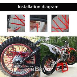 72x Universal Wheel Spoke Wraps Housse Pour Moto Tuyau Skins Pour Kawasaki Suzuki