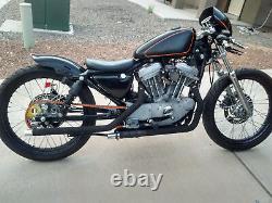 84-99 Harley Cafe Racer Sportster Black 23 X 3 40 Spoke Avant Roue Arrière Ensemble