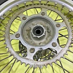 95-96 1996 Cr250 Cr500 Cr 250 Avant Roue Arrière Ensemble Complet Rim Hub Spokes Tire
