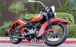 Acier Inoxydable 19 Stpke Set Pour 1930 1936 Harley VL Roue Avant Ou Arrière
