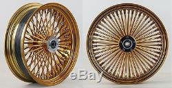Adn Gold Mammoth 52 Roues À Rayons Pour Graisses 18x3,5 Harley Flst Softail