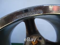 Antera Tri Spokes Roues Jantes Gold Caps 17x10 Et50 P / N 109107007 Rare De Rare