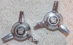 Applique Cadillac Wire Wheel À 3 Rayons, Capuchon Central, Pas De Numéro De Pièce