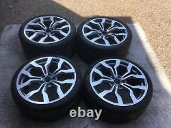 Audi R8 Oem Véritable Usine 10 Spoke Gris 19 Usinées Roue / Pneu / Tpms / Set Caps
