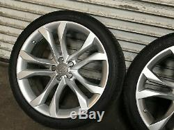 Audi S8 Avant Oem Set Arrière Rim Roues Et Des Pneus 20 Pouces 20 2007 2008 2009 2010