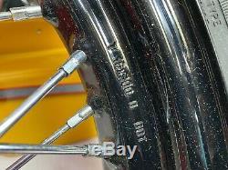 Authentiques Harley Softail Slim 08-17 16x3 Roues Pneus Avant Lacé Arrière Spoke Oem