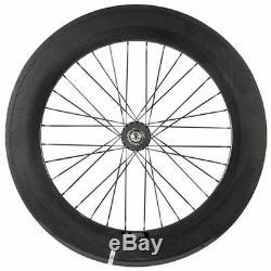 Avant Tri Parlé 88mm Arrière Carbone Wheelset Piste Cyclable Fixeg Roues Dentées 700c Vélo