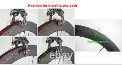Avant Tri Spoke Rear 88mm Fixed Gear Carbon Wheels Carbon Wheelset Track Bike 3k