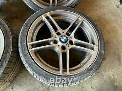 Bmw E82 E88 18 Style 313 Roues Doubles Rimes Staggered Avec Tires Oem 95k