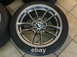 Bmw M3 & M4 Style 513m Oem 10 Double Spoke 18 Wheel Tire Tpms & Center Cap Set