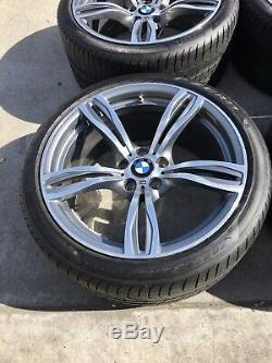 Bmw M5 Et M6 Style 343 Oem Véritable Double Spoke 20 Roue / Pneu / Tpms / Centre Caps