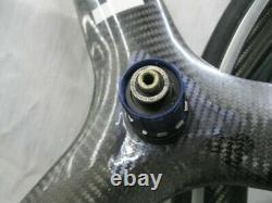 Bontrager Hed 3c Carbon Tri Spoke Tubular Avant Et Roue Arrière 700c 19