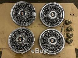 Buick 15 Pouces De Fil Spoke Hubcap Hub Cap Enjoliveurs Ensemble De 4