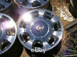 Cadillac Eldorado Deville Seville Oem 16 X 7 Chrome 7 Rayon Jantes De Roues Set