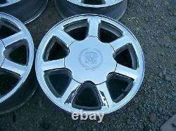 Cadillac Eldorado Séville Deville Oem 7 Spoke Chrome 16 X 7 Rims Jeu De Roues