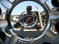 Cadillac Eldrorado Deville Seville Oem 16 X 7 Chrome 8 Sommes De Roues Péquées