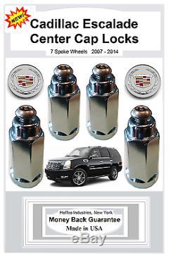 Cadillac Escalade 2007-2014 Center Cap Locks Pour 7 Rayons (centercaplocks. Com)