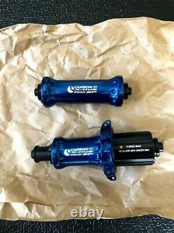 Carbon-ti X-hub Sp Bleu De Frein À L'avant Et À L'arrière 20/24 Spoke Rim