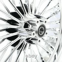 Chrome Fat Spoke Avant Roue Arrière Rim Dyna Softail Touring 21 X 2.15 &18 X 3.5